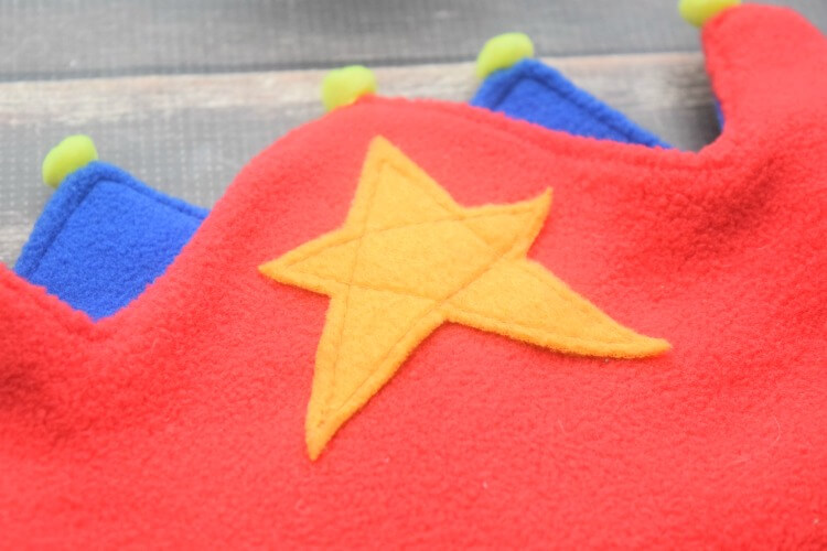 Fleece Star on Fleece Crown