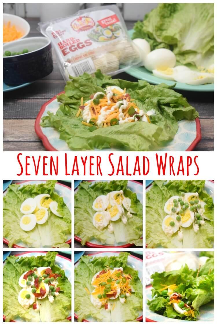 Seven Layer Salad Wraps