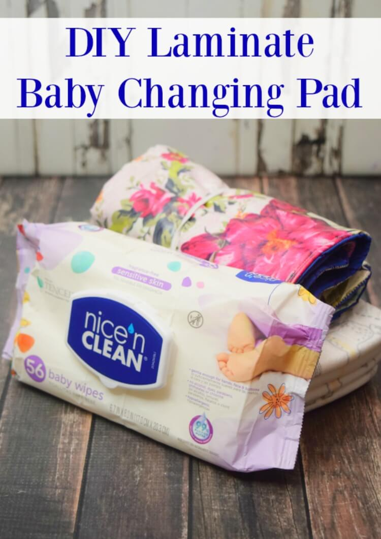 Nice 'n CLEAN Baby Wipes and DIY Laminate Baby Changing Pad