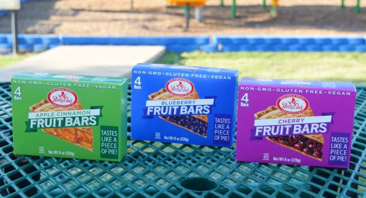 Cherry, Apple Cinnamon, and Blueberry - New flavors of Betty Lou's Fruit Bars found at Walmart!