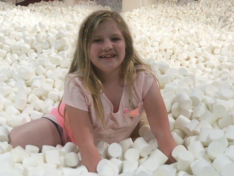 Dive into the marshmallow pit at Candytopia in Dallas!