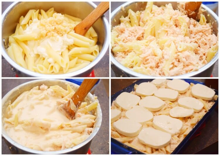 This Chicken Alfredo Casserole is a snap to put together. You can have it in the oven in about 10-12 minutes.