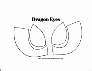 Dragon Eyes pattern for tracing