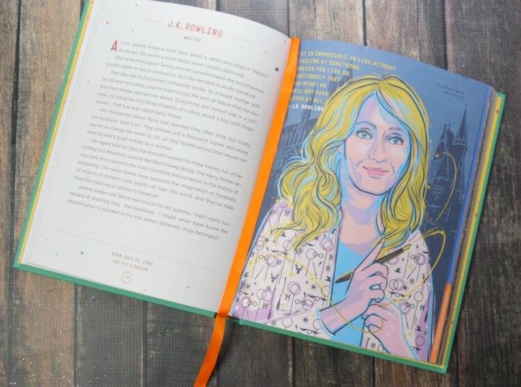 J.K. Rowling is one of the contemporary women in Good Night Stories for Rebel Girls.