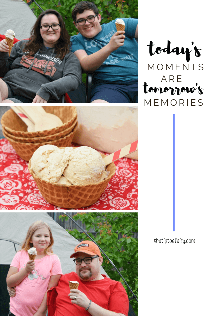 Making Memories with No Churn Root Beer Float Ice Cream