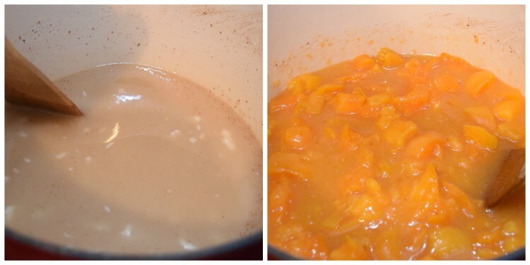 Make the apricot pie filling with clear jel for canning.