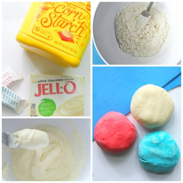 how to make edible red, white, and blue slime