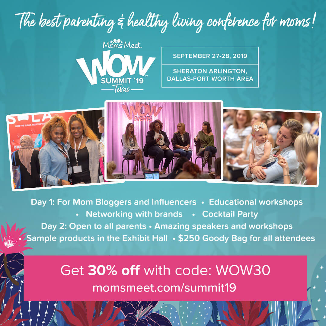 Get 30% off with code WOW30 for the Moms Meet WOW Summit '19: Texas