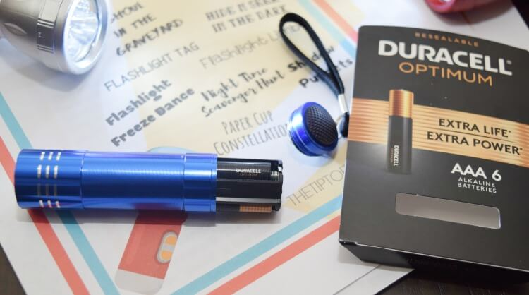 Duracell Optimum are perfect for getting extra power in your flashlights for our Flashlight Games for Kids