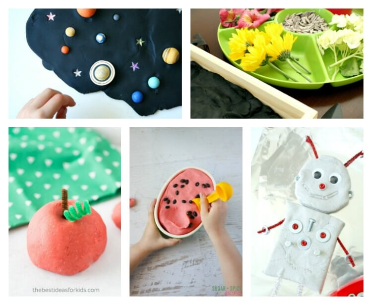 From space to floral playdough recipes
