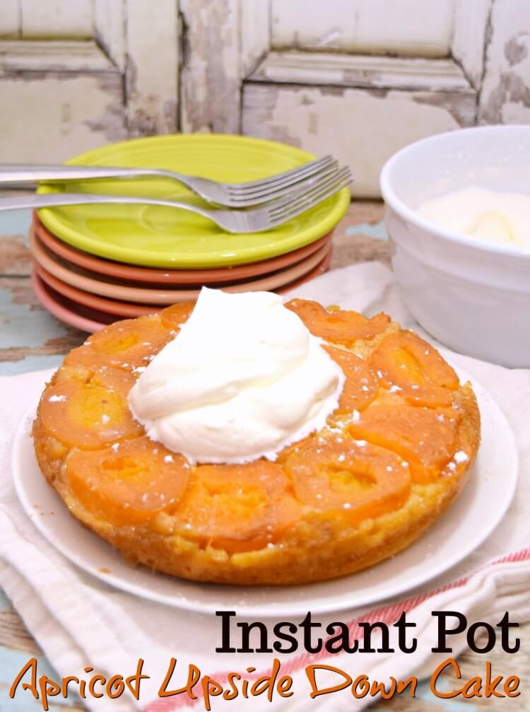 Apricot Upside Down Cake fresh made in the Instant Pot.