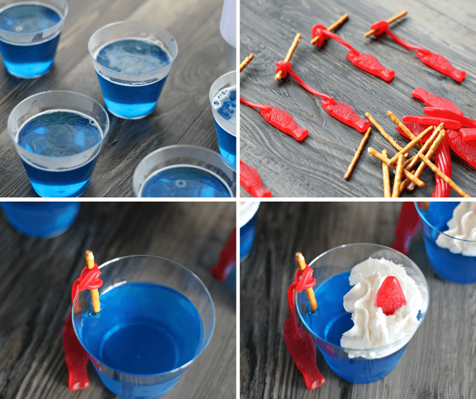 How to make Deep Sea JELLO Fishing Cups