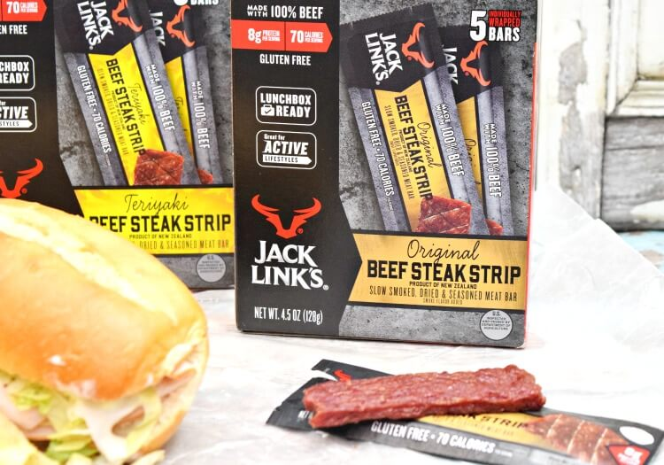 Jack Link's Bars for lunch