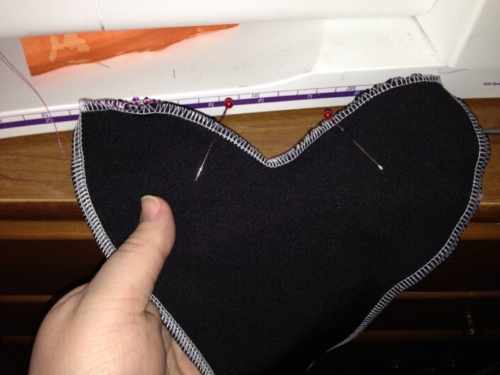 Sew the tail of the American Girl Mermaid Outfit